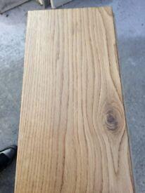 Solid oak wood flooring. 18mm 150mm oilded