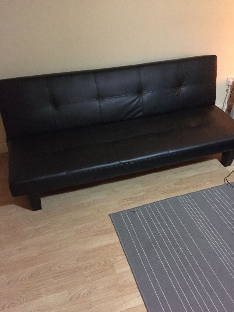 Small Double Sofabed Black 3 Seater In Hoxton London Gumtree