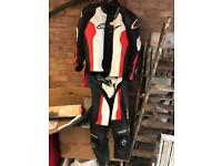 Alpinestars 2 piece leathers gp pro
