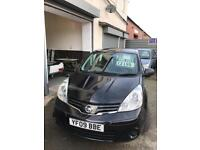 Nissan note 1.4 petrol 5 doors hatchback 5 seater family car 09 plate 2009