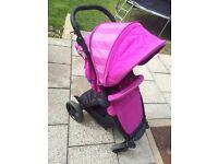 I SAFE SAIL stroller pushchair pink- purple colour EXCELLENT!!!