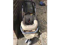 3 in 1 travel system pram/buggy/ car seat
