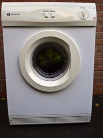 TUMBLE DRYER - 6KG WHITE KNIGHT 44AW (FREE DELIVERY)