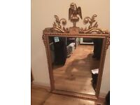 GOLD WOODEN FRAME MIRROR, REDUCED FOR QUICK SALE