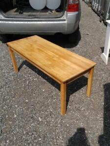 "Oakville IKEA Rustic Old Pine Coffee Table 57"" Sturdy"