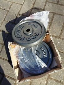 BRAND NEW 2 x 10kg CAST IRON PLATES