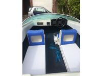 speed boat 14ft dateline and trailer