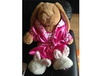 Build a bear rabbit with outfit