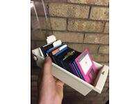 Retro 22 floppy disks with locking holder and key