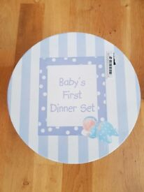 Babys First Dinner Set- Ceramic Bowl, Mug and Plare