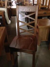 Oak chairs £80 each