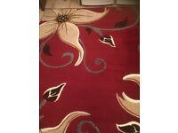Large flower patterned rug