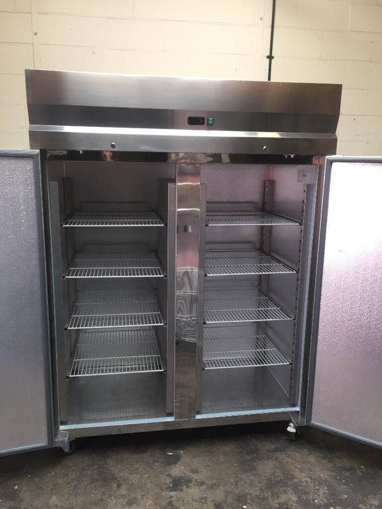 Tefcold Double Doors Upright Fridge Catering Commercial