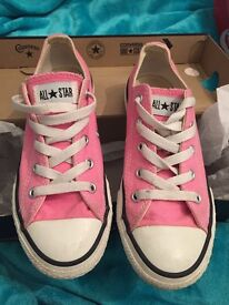 Pink kids Converse All Star shoes size 1