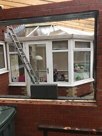 White 3mx3m UPVC conservatory. 10 years old. Will need dismantling and taking away. Any offers?