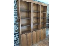 Shelving units all handmade from mdf and stained. Fantastic bargain only £50 the lot.