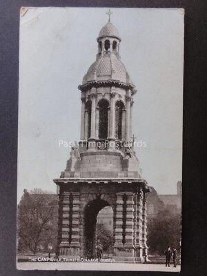 Ireland DUBLIN -THE CAMPANILE, Trinity College c1906 - Old Postcard