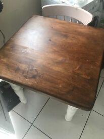 Farmhouse chunky small table