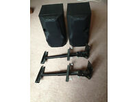 Kenwood Speakers and adjustable wall brackets.