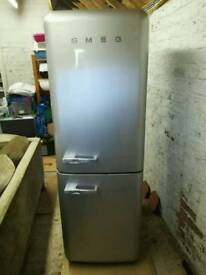 Silver SMEG Fridge Freezer