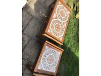 Vintage tile top table
