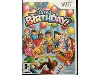 "Wii game: ""it's my birthday"""