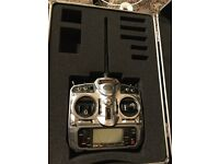Spektrum DX7 transmitter. Like DX6, DX6i, DX8, DX9 for RC helicopter, plane or drone
