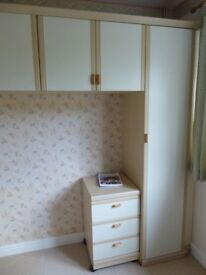 Wardrobe, Drawer Unit and Wall Cupboards Bedroom