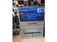 "Toshiba 42"" retro tv with stand"