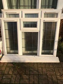 2x UPVC Double Glazed Windows with Lead Seperation Bars