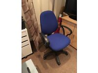 Blue ergonomic office chair