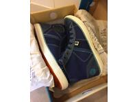 Superdry men's high-top trainers size 9 brand new in box.