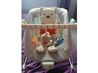 Baby bouncer with vibration & sound