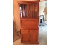 Two matching wall units - one with fold down drinks area. Both with lights. Excellent condition.