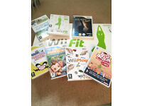 Wii games, wii fit and balance board