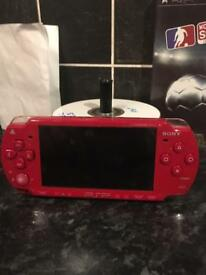 RED Psp 30+ GAMES, MINT condition, CHEAP!!