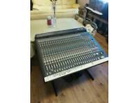Soundtrack Topaz Project 8 24 channel mixing desk.
