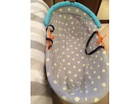 Baby K Moses Basket and swing stand