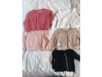Bundle of 8 X 9/12 Months Baby Girls Cardigans/ Hoody :) See all Images :)