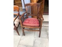 Modern hardwood chair - Good quality and condition .