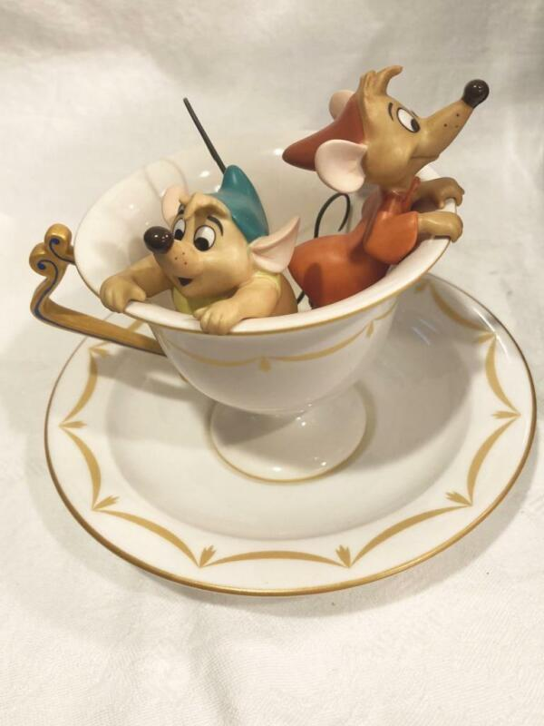 """WDCC """"Tea for Two"""" Gus and Jaq 1999 Special Event Piece, Event Saucer NO COA"""