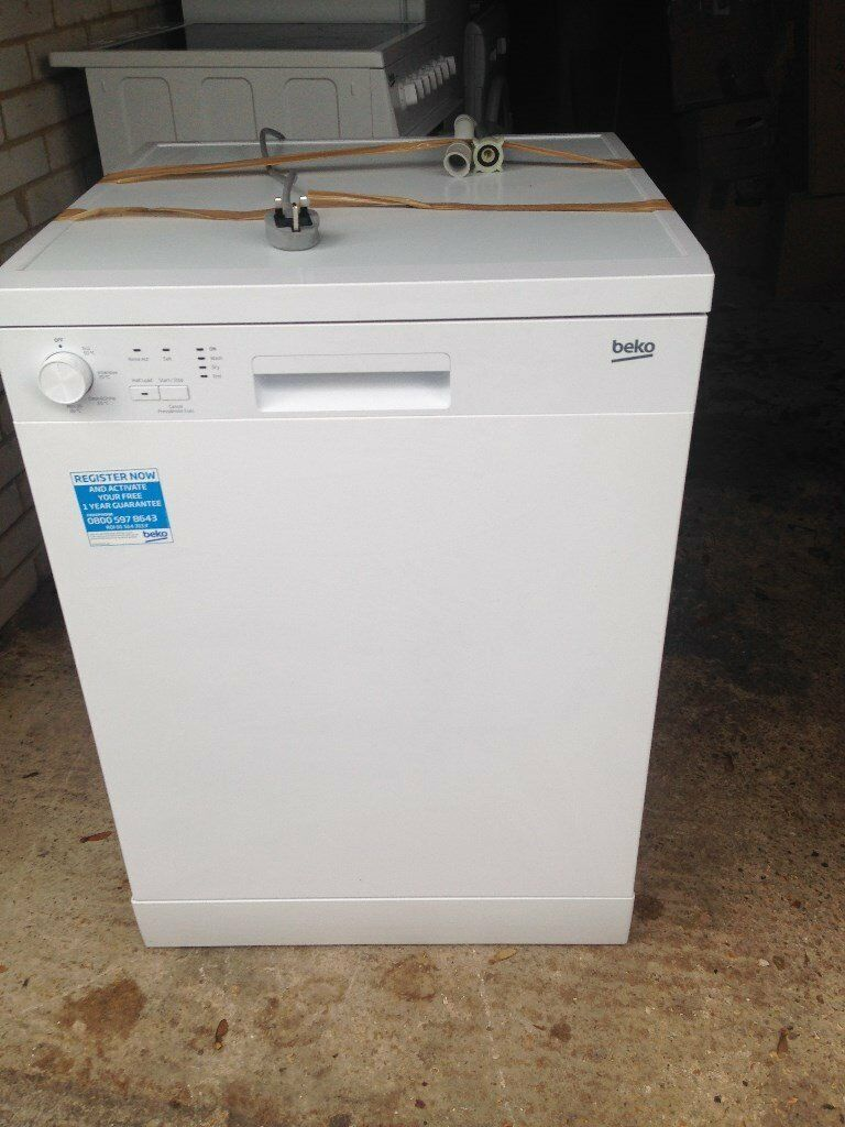 7 Months Old Beko Free Standing Dishwasher Model DFC04C10W, Never Used