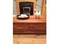 Solid oak next coffee table/unit with drawers like new rrp £375