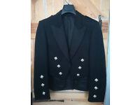 Kilt Jacket Black Dress Prince Charlie Jacket 38R Regular