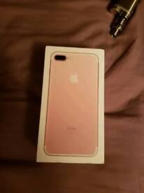 Iphone 7 plus unlocked 256gb
