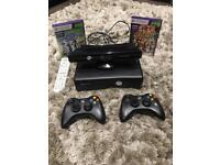 Xbox 360 with Kinect camera and games