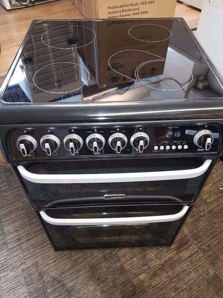 Cannon kendal black 60cm cooker double oven