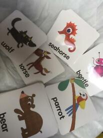Learning animal cards great fun for kids