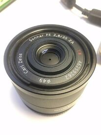 Sony FE 35mm f2.8 missing lens hood and cap