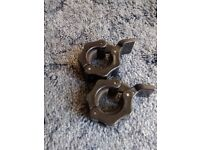 """1 pair of 1"""" clamp collars for barbells and dumbbells"""